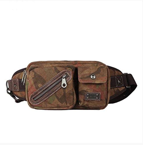 Hüfttasche männlichen Casual vintage Brust Tasche camouflage fashion Messenger Bag Schultertasche canvas Männer tide 23 * 14 * 6,5 CM