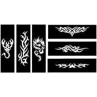 Dragón Tribal Escorpión Tattoo Plantillas Plantillas 6 Sheet Set 2