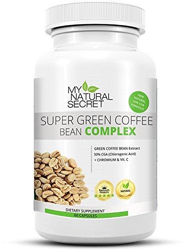 Super Green Coffee Bean Extract + Hyper HD Complex - Grüner Kaffee Extrakt Kapseln mit Vitamin C  und Chrom