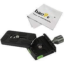 haoge Universal 50mm abrazadera + 70mm qr-70ii placa de liberación rápida para trípode de cámara cabezal de rótula Compatible con Arca Swiss