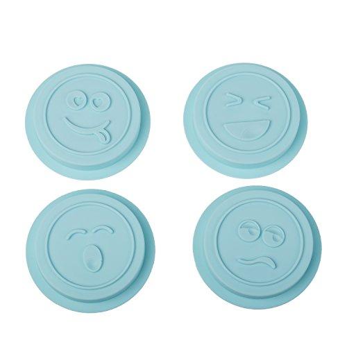 WONDER STAMP Kit para hacer galletas con cortapasta y 4 piezas de silicona con...