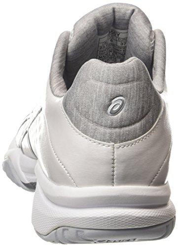ASICS Gel-court Bella - Scarpe da Tennis Donna, Bianco (white/silver/white 0193), 42 EU Bianco (white/silver/white 0193)