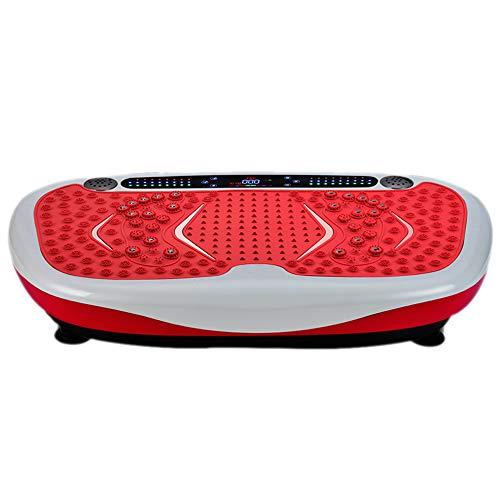 HY Placa de vibración para Ejercicios - Placa de Potencia de vibración Delgada Ultra compacta con USB y Bluetooth Reproductor de música y Terapia magnética - 99 velocidades, 5 programas de Ejercicios