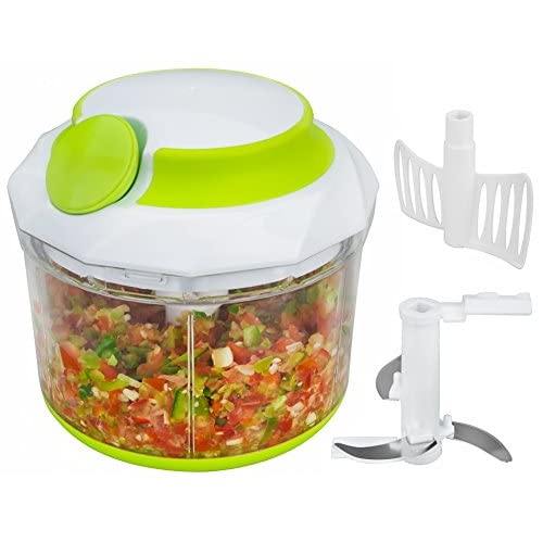 41crgW%2BbYpL. SS500  - Brieftons QuickPull Food Chopper: Powerful Manual Handheld Chopper/Mixer/Blender, 950 ml, with 3 Recipe Ebooks