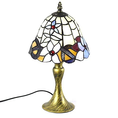 Tischleuchte im Tiffany-Stil, 8 Zoll, Euro Kreativität, getöntes Glas -