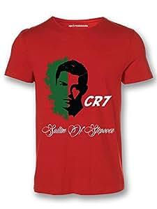 Sportskeeda Portugal Cristiano Ronaldo WC 14 Football T-shirt Red - XXL