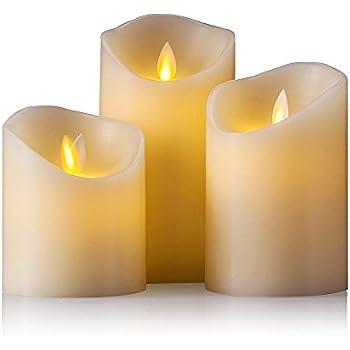 air zuker led kerzen mit beweglicher flamme echt flammen effekt led echtwachskerzen mit. Black Bedroom Furniture Sets. Home Design Ideas