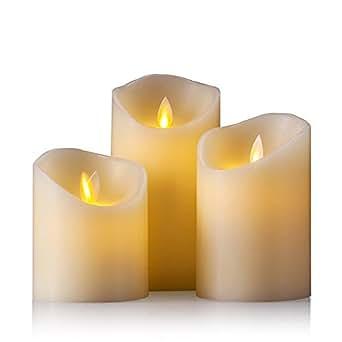 air zuker led kerzen mit beweglicher flamme echt flammen effekt led echtwachskerzen mit 10 key. Black Bedroom Furniture Sets. Home Design Ideas