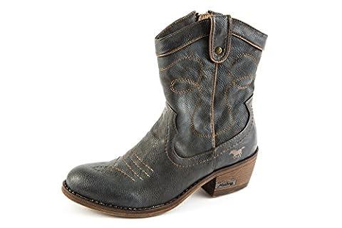 Mustang Damen Western Boots Stiefeletten Grau Gr. 37