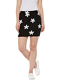 Rider Republic Women Black Pencil Short Skirt