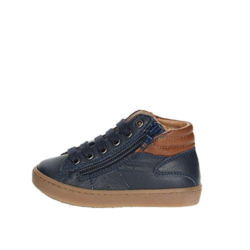 CIAO BIMBI - Sneaker à lacets bleue en cuir, soignée dans tous ses détails, garçons