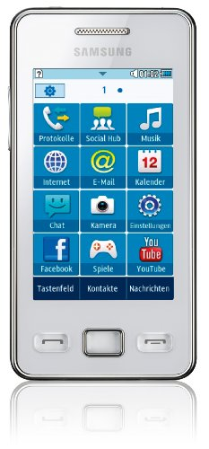 Samsung Star II S5260 Smartphone (7,62 cm  (3 Zoll) Touchscreen, 3MP Kamera, MP3-Player, WLAN, Bluetooth, t9-Trace) ceramic-white Ceramic White