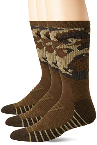 Nike Cushion Camo Crew Trainingssocken (6 Paar) Socken, Canvas/Neutral Olive/Black, L -