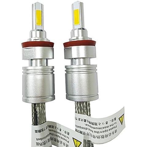 Huaming 6000K 5000LM 9–32V 2pcs tutti in uno ricambio 40W LED lampadine per fari auto guida fendinebbia Kit di conversione IP 68impermeabile protezione H8