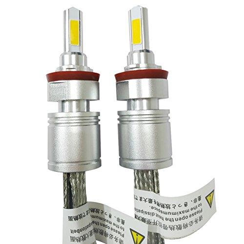 Huaming 6000K 5000LM 9-32V 2pcs tutti in uno ricambio 40W LED lampadine per fari auto guida fendinebbia Kit di conversione IP 68impermeabile protezione H9