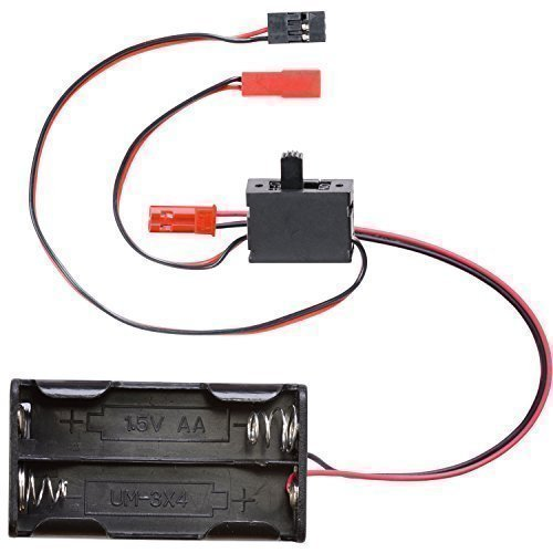 partCore Batteriebox 4 x Mignon Typ AA mit BEC Stecker und Schalterkabel BEC JST auf JR Graupner Uni