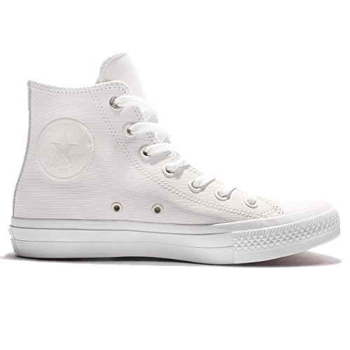 Blue All white Chuck Trainers Womens Taylor Hi white Ii Leather Converse Star zqUgRw