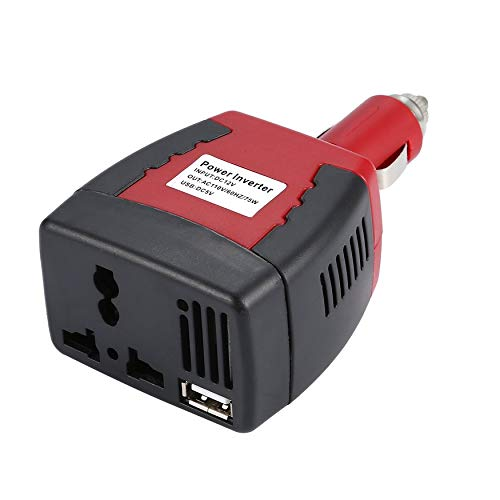 Yao 75W Car Inverter DC12V to 110V/220V 50Hz Power Converter with USB Charger Black - 50hz Power Inverter