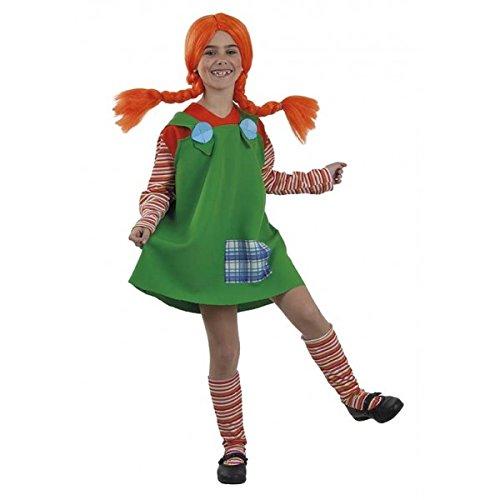 Costume da Pippi Calzelunghe Verde per bambina T-6 (5/7 anni)