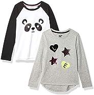 Spotted Zebra 4-Pack Long-Sleeve T-Shirts Niñas, Pack de 4