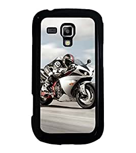 Fuson Designer Back Case Cover for Samsung Galaxy S Duos 2 S7582 :: Samsung Galaxy Trend Plus S7580 (sports enfield royal bullet motorcycle driving)