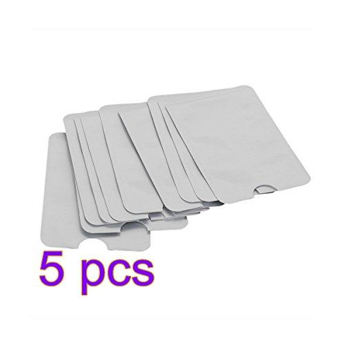 Preisvergleich Produktbild ANKKO Reisepass Kreditkarte ID sichern Protector-Anti-Diebstahl-RFID blockieren Sleeve Shield-Card-Inhaber (5 Stück)