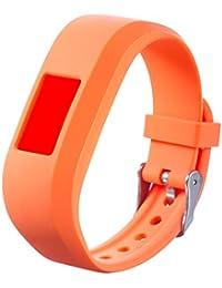GROOMY Silicone Watch Band Strap Replacement For Garmin Vivofit JR JR2 Junior Fitness - Orange