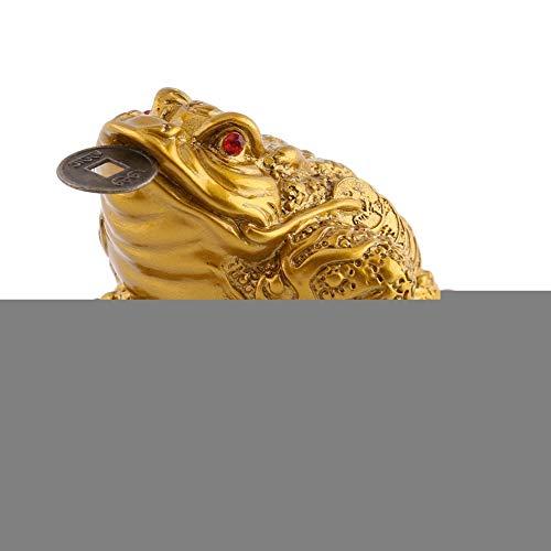 Neufday Chinesisches Feng Shui Geld-Frosch-Reichtum-glückliche Geld-Frosch-Münzen-Kröte für für Wohlstand-Innenministerium-Dekoration-gutes glückliches Geschenk(Gold) -