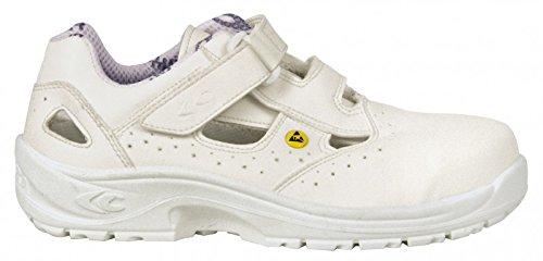Cofra, 10190-000, Sandali di sicurezza S1 ESD SRC Speciali Servio, dimensione 47, bianco