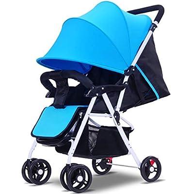 TYUE Cochecito de bebé Plegable cochecillo Ligero Cochecito de Viaje Infantil, Completo Cochecito Puede Sentarse Amortiguador de Choque reclinable