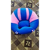 MAD DECOR HOUSE Cotton Toddlers Training Seat Baby Saftey Sofa Dinning Chair Learn To Sit Stool Pink Sky Blue