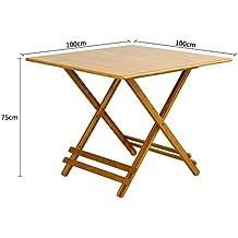 mesa plegable YNN Madera Maciza Tabla de hogar Tabla portátil Mesa de bambú al Aire Libre