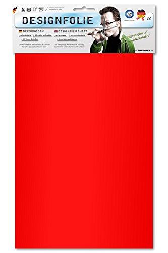 EASYPLOT 80-029-B - Designfolie, circa A4, transparent rot