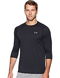 Under Armour UA Tech 3/4 2.0 - Camiseta de Manga Larga para Hombre, Hombre, 1328191-001, Negro/Gris, Medium
