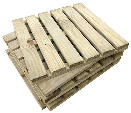 6 x The Famous Click-Deck Holzfliesen für Terrasse, Balkon, Dachterrasse, Whirlpool-Fliesen, 40 x 40 cm