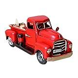 Jamicy Vintage 1/12 Metal Truck, Christbaumkugel, Kinder Spielzeug, Tischdekoration (Rot)