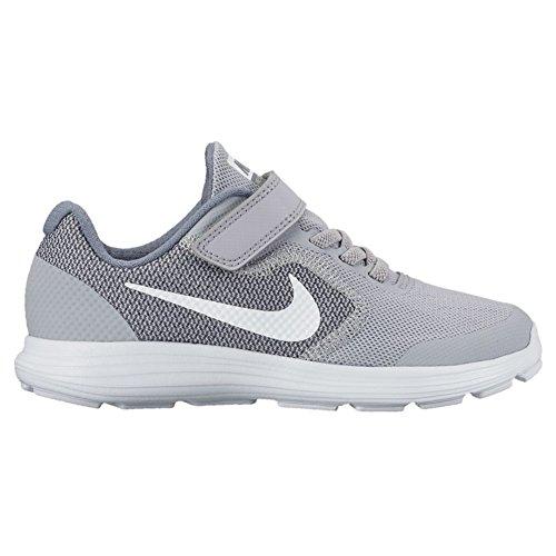 Nike Revolution 3 (Psv) Scarpe da ginnastica, Bambini e ragazzi Grigio - Bianco