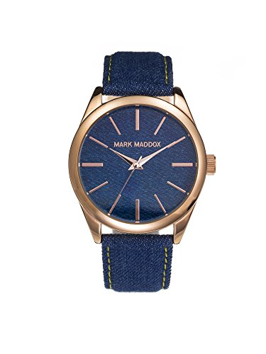 Mark Maddox Women's Quartz Watch with Blue Dial Analogue Display and Blue Bracelet MC3016-97