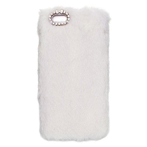 Pour IPhone 6 Plus / 6s Plus, étui protecteur pour PC Faux Fur JING ( Color : Purple ) White