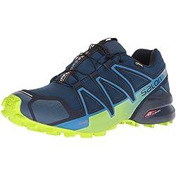 Salomon Speedcross 4 GTX, Zapatillas de Trail Running Hombre, Azul (Poseidon/Navy Blazer/Lime Green), 42 2/3 EU