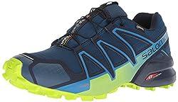 Salomon Herren Trail Running Schuhe, SPEEDCROSS 4 GTX, Farbe: blau (Poseidon/navy Blazer/ lime Green) Größe: EU 44