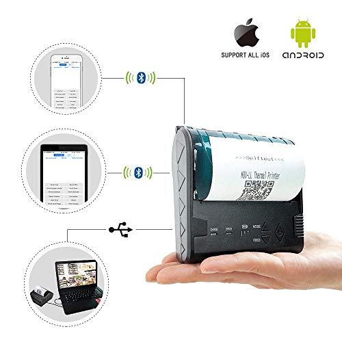 ZKTeco ZKP8003 Stampante termica di ricevute portatile per POS (terminale  punto vendita)