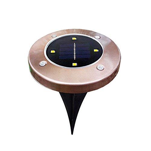 DIKHBJWQ 1 Stücke Solar Mit 4 LED Outdoor Pfad Licht Spot Lampe Yard Garten Rasen Wasserdicht (Lichterkette/Light/Tischlampe/Nachttischlampe/Nachtlicht)