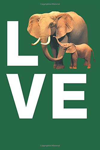 Elephant Love: Blank Lined Notebook, Journal or Diary - Canvas-trunk