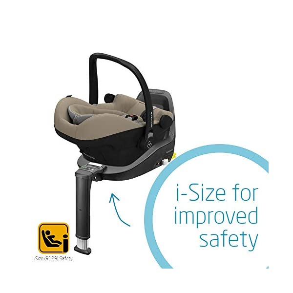 Maxi-Cosi Pebble Plus Baby Car Seat Group 0+, ISOFIX Car Seat, i-Size, 0-12 m, 0-13 kg, 45-75 cm, Sand Maxi-Cosi Baby car seat, suitable from birth to approximate 1 year (0-13 kg, 45-75 cm) Fits with compatible Maxi-Cosi base unit for ISOFIX installation i-Size for enhanced safety and optimal protection against side impacts 5