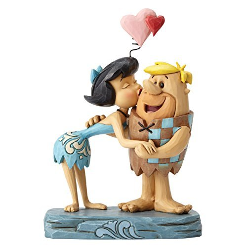 The Flintstones by Jim Shore Rubble Romance Betty and Barney Ornament by The Flintstones by Jim Shore -
