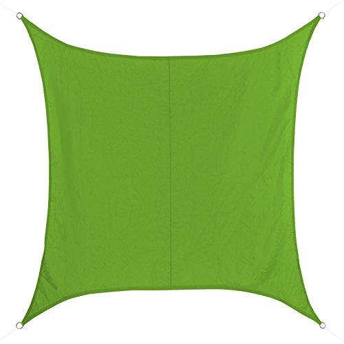 BB Sport Voile d'ombrage quadratique Disponible en différentes Tailles et Couleurs - Hydrofuge résistant aux intempéries 100% Polyester (PES), Taille:5m x 5m, Couleur:Émeraude