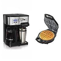 Hamilton Beach K-Cup 1-12 Cup Coffeemaker + Proctor Silex Belgian Waffle Maker