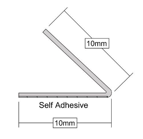 Stormguard 05SR180005MW 5m Self-Adeshive ' V ' Seal Tape Draught Excluder - White