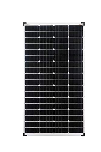 enjoysolar®, pannello solare singolo con monocristalli da 130Watt, 12V, ideale per giardino, camper, caravan, ecc.